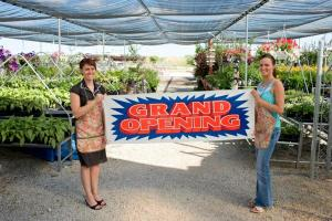 Grand Opening of a Plant Shop